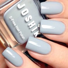 Summer Best Stunning Square Nails Design include Acrylic Nails and Matte Nails - Diaror Diary - Page 54 Cute Nail Colors, Nail Polish Colors, Gray Polish, Summer Nail Colors, Light Colored Nails, Light Nails, Grey Acrylic Nails, Gray Nails, Trendy Nails