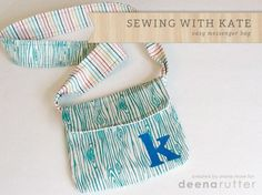 Sewing With Kate: Easy Messenger Bag Tutorial featuring Scenic Route fabric designed by Deena Rutter for Riley Blake Designs #iloverileyblake #scenicroute #deenarutter