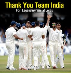 #Congratulations to #IndianCricketTeam for the Epic Win after 28 Years at #Lords from Fastticket.in...