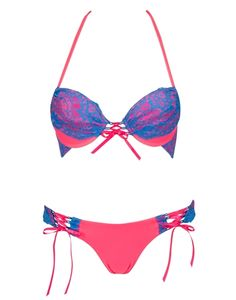 226185e7b9 POOLSIDE PUNCH Push-up Top & Skimpy Tie-side Bottom | Beach Bunny Swimwear  Spring 2015