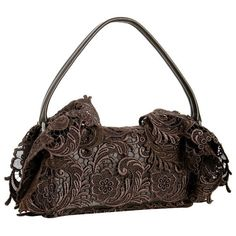 Prada brown floral lace and leather flap baguette ($30) ❤ liked on Polyvore featuring bags, handbags, brown bag, floral print handbags, lace bag, floral handbags and floral print bags