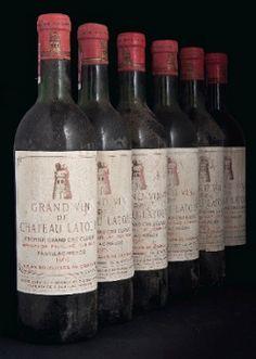6 bottles of the sought after 161 Chateau Latour, Chateau Latour, Mouton Rothschild, Vintage Wine, Vintage Labels, Vintage Stuff, Vintage Colors, Wine Making Process, Wine Auctions, Wine Sale