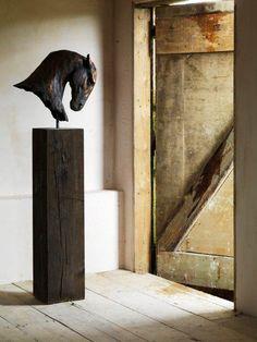 Horse head sculpture by Nic Fiddian Green