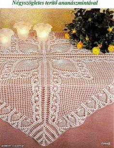 Square lace tablecloths and diagram ~ DANTELMODELLER