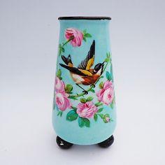 "Antique Minton c.1880 Christopher Dresser Bird & Roses Tapered Vase 7""/18cms | eBay"