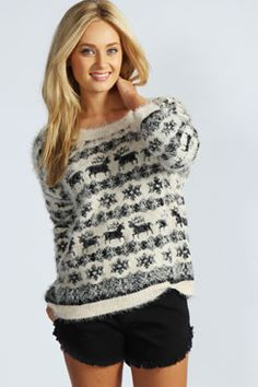 Chloe Reindeer Soft Knit Jumper at boohoo.com