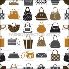 Elegant fashion pattern with bags and purses.