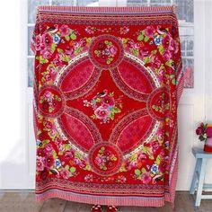 PiP Studio Fruity Flowers Family Towel, Red