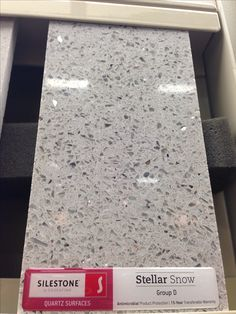 Quartz countertop. this would be great with white cabinets