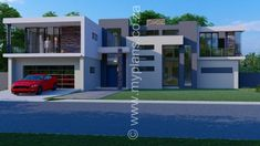 6 Bedroom House Plan – My Building Plans South Africa My Building, Building Plans, 5 Bedroom House Plans, Architect Fees, Home Design Floor Plans, My Dream Home, Dream Homes, Bedroom With Ensuite, Modern House Design