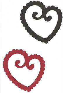 Svg file Red and Black Hearts