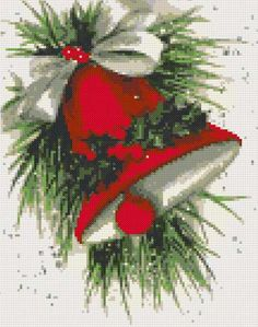 Christmas bell cross stitch kit or pattern | Yiotas XStitch