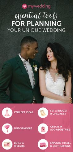 Sign up for mywedding and get immediate access to a suite of free wedding planning tools designed to help you bring your unique celebration to life.