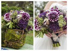 Beautiful matching purple bouquet at Rancho Las Lomas