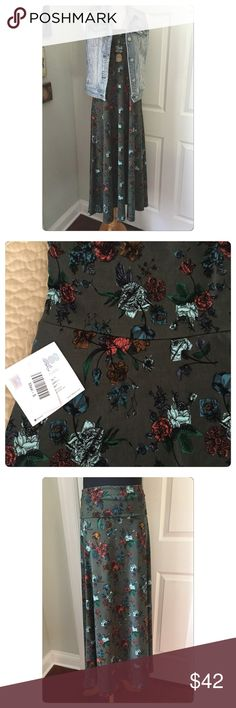 LuLaRoe Maxi Skirt NWT NWT. Versatile piece. Can be worn as a strapless dress or maxi skirt. Dark gray. Polyester w/ 4% spandex LuLaRoe Skirts Maxi