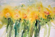 Close up of one of my daffodil paintings, a section from a larger composition.       I have no idea what it is but at this time of...