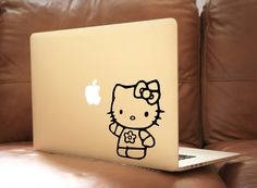 Hello Kitty Laptop Decal Macbook Vinyl Decal Car Sticker by BoomStickers on Etsy