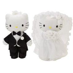 Hello Kitty - Black Tie Wedding Bridal Plush Set