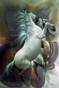 """""""Stallions at Play"""" by Lee Bogle"""