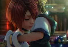 Kairi and Sora- Kingdom hearts