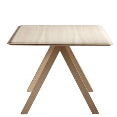 Eric Degenhardt and Boewer Boewer  a table with a telling name. The tabletop is asoft rectangle with a 'gentle' edge, propped up on alight support w...