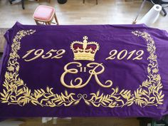 full view of the banner for the Royal Barge