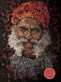 portret uit rolletjes papier: Anant Nanvare
