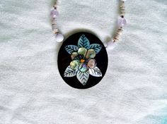 Vintage Pendant with Necklace Lee Sands Black by YoursOccasionally