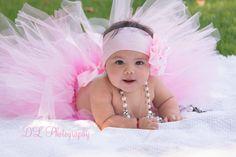 Baby girl 9 months photoshoot pink tutu, headband and pearls I love my job! Pink Tutu, Love My Job, Flower Girl Dresses, Photoshoot, Pearls, Wedding Dresses, Kids, Baby, Photography
