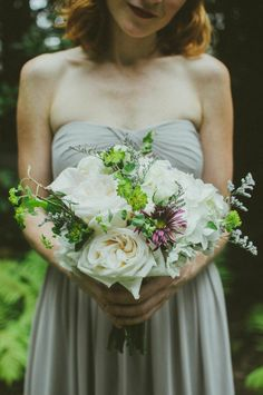 Loving the textures in this bridesmaid bouquet | Jessica Fey Photography