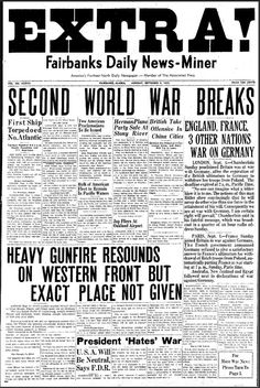 Newspaper of the time period that would have been in the room:
