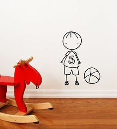 Lets play  Wall Decal  Wall Sticker by Caracarmina   (NOW AVAILABLE ON MY ETSY STORE!)