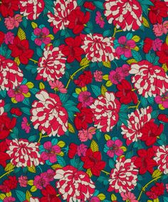 Liberty red copeland cotton craft fabric, a hint of holidays?