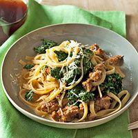 Recipe Fettuccine with Sausage & Kale