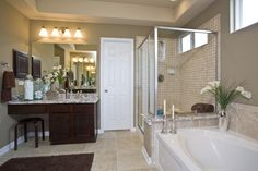 Everything's Included by Lennar, the leading homebuilder of new homes for sale in the nation's most desirable real estate markets. Ryland Homes, Paint Samples, New Homes For Sale, Real Estate Marketing, San Antonio, Building A House, Bathrooms, Mirror, Model