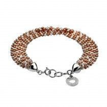Emozioni Luxury Sterling Silver and Rose Gold Plate Bead Bracelet - FOA Has one for you to touch and feel! Come in today to see it!