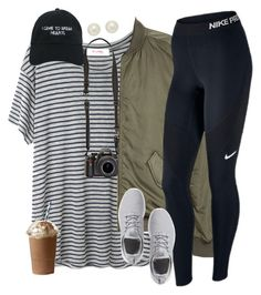 """•i came to break hearts•"" by sophie-dye ❤ liked on Polyvore featuring Organic by John Patrick, H&M, NIKE, Nasaseasons and Honora"