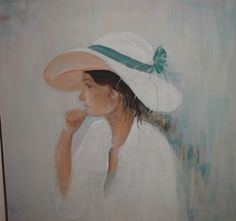 dame met hoed. Made by J@net