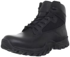 Timberland PRO Valor Men's Valor 6 Inches McClellan Work Boot Timberland. $109.00. Aggressive Timberland B.S.F.P [Brake Support Flex Propel].. Leather and fabric. Waterproof Black Leather with Agion Mesh causes water to bead and repel. Dynamic Anti-Fatigue Technology for all-day comfort. Polycarbonate eyelets with stitched-in nylon. Manmade sole. Fiberglass shank