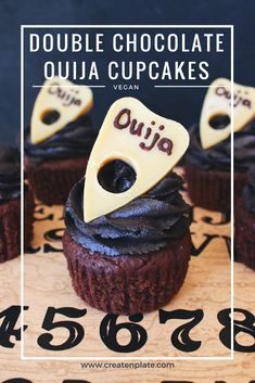 Double Chocolate Ouija Cupcakes - Vegan and perfect for Halloween!