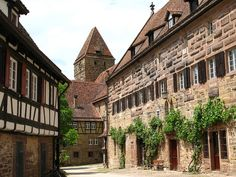 Maulbronn Monastery (Kloster Maulbronn) is one of Europe's most complete and bestpreserved Medieval monastery complexes. It combines a multitude of archit Home Fountain, Different Architectural Styles, The Cloisters, The Monks, Romantic Places, Central Europe, Romanesque, Kirchen, Germany Travel