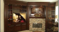 corner cabinet with fireplace....tv cabinet design with different colors...too dark for your room