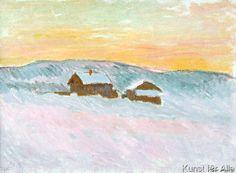 Claude Monet - Norwegian Landscape, Blue Houses, 1895