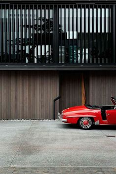 Mercedes-Benz. Red and vintage.