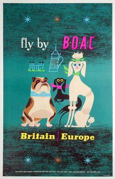 Britain | Europe * Fly BOAC