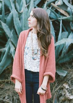 Huge Comfy Sweater - Coral