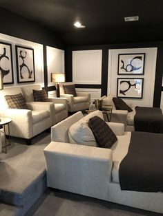 Home Theater Room Design, Home Cinema Room, Home Theater Decor, At Home Movie Theater, Home Theater Rooms, Home Theater Seating, Home Decor, Cinema Room Small, Small Movie Room