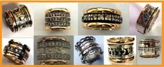 Handcrafted, Artisan Rings #spinner rings #wide band rings
