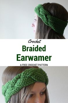 Braided Crochet Headband and Earwarmer  - Free Crochet Pattern.  Perfect for easy Christmas gifts! ༺✿ƬⱤღ✿༻