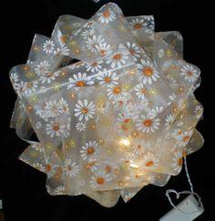 Puzzlelampe mit Gänseblümchen